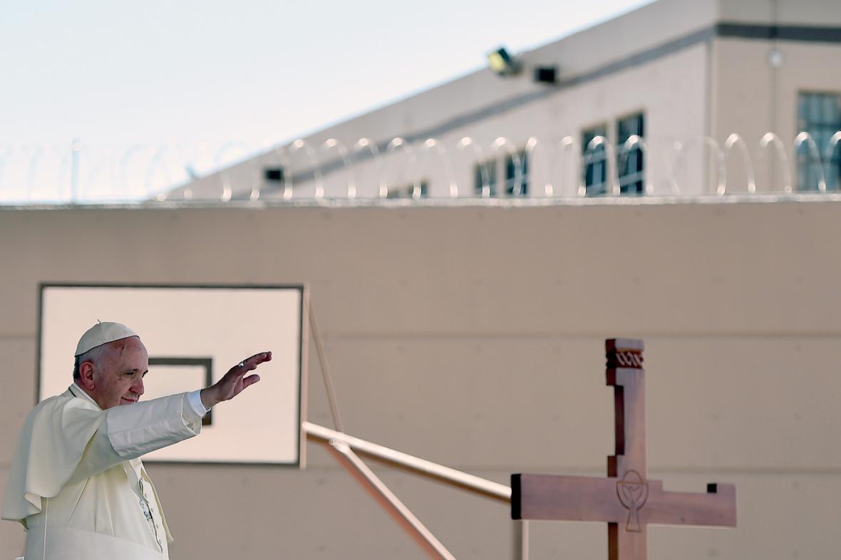 Papež při jedné z mexických cest