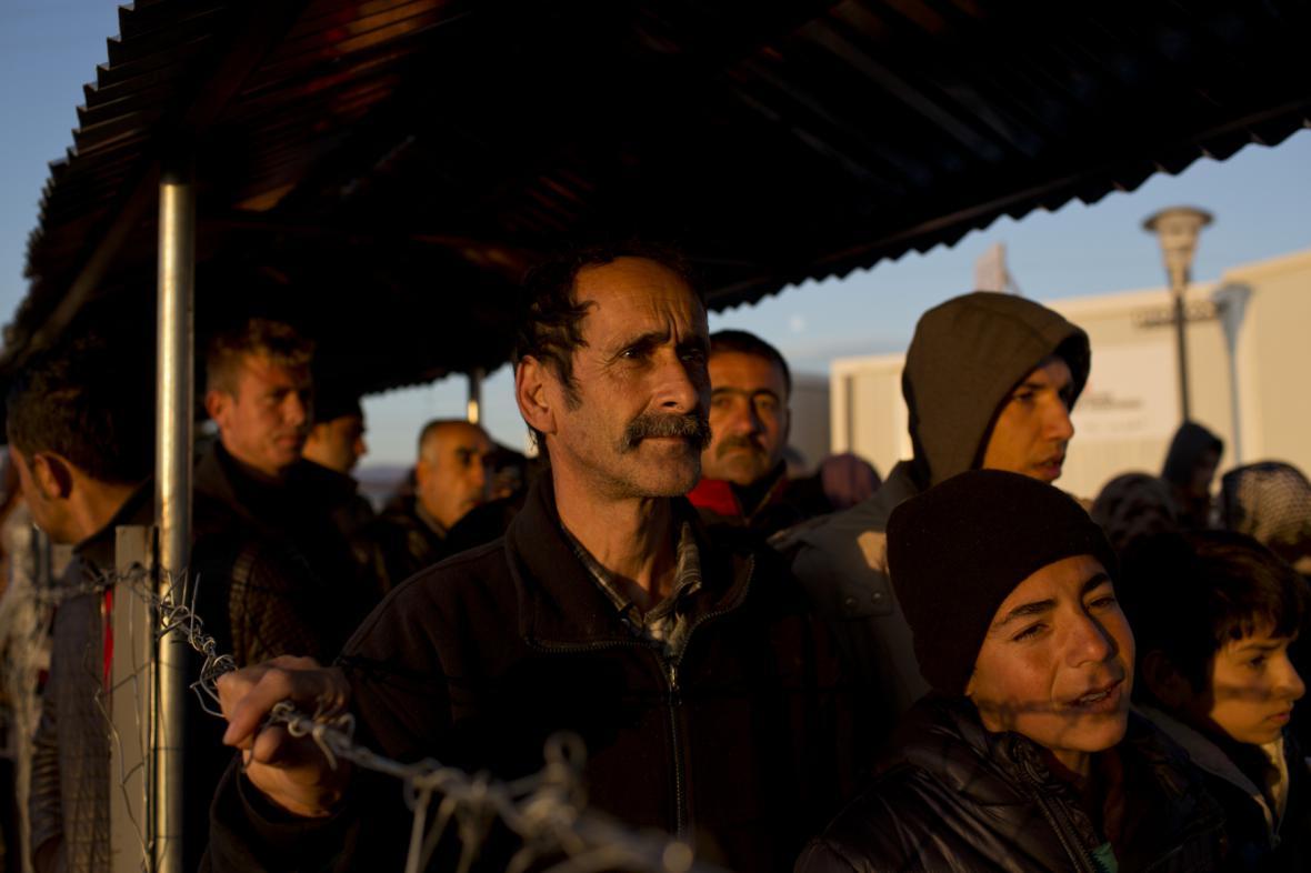 Dav migrantů v Řecku