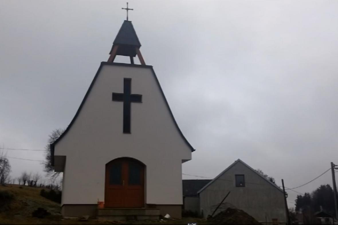 Nová kaple v Dobroutově na Jihlavsku