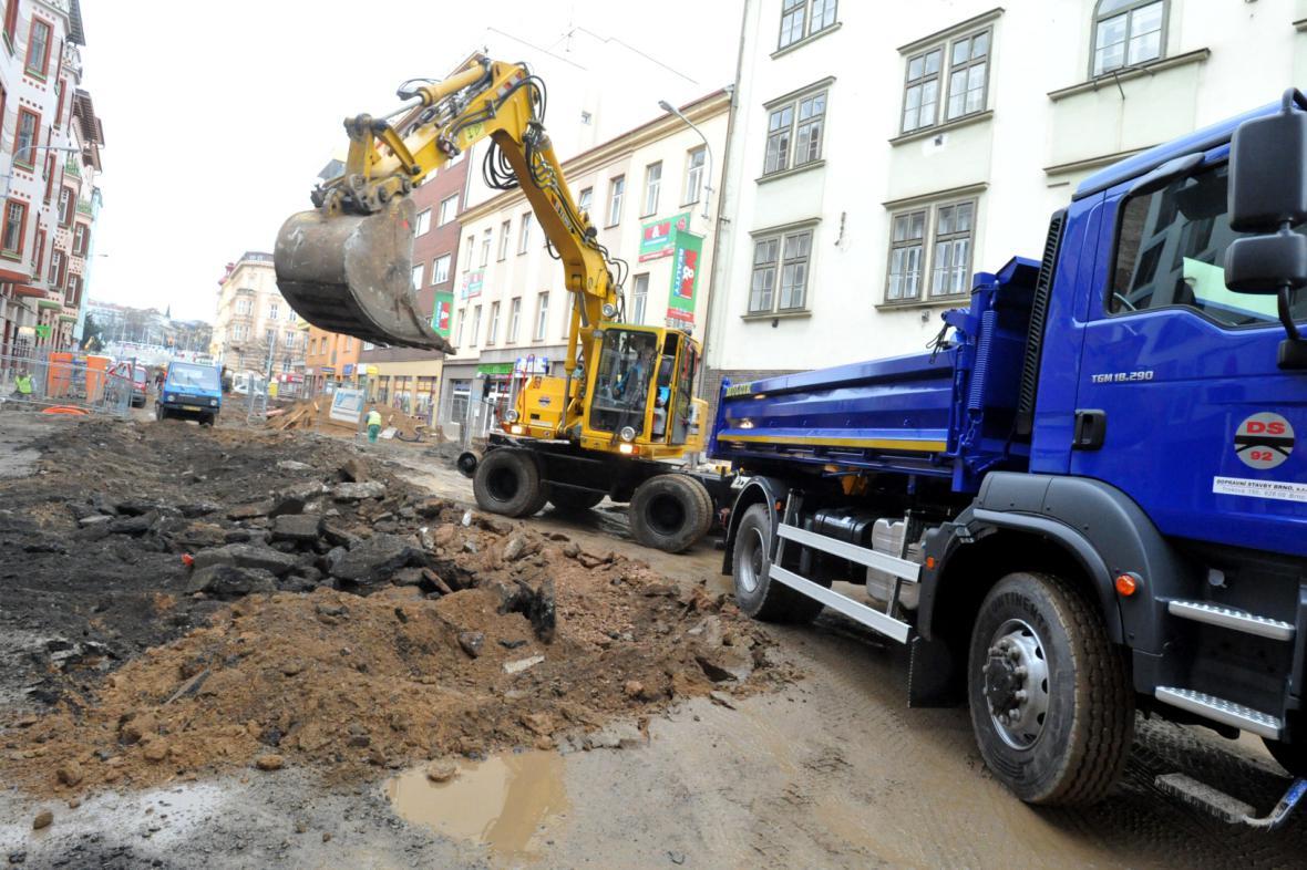 Rekonstrukce ulic v Brně budou pokračovat