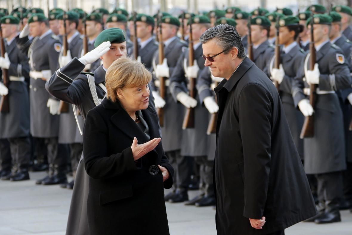 Angela Merkelová a Tihomir Orešković