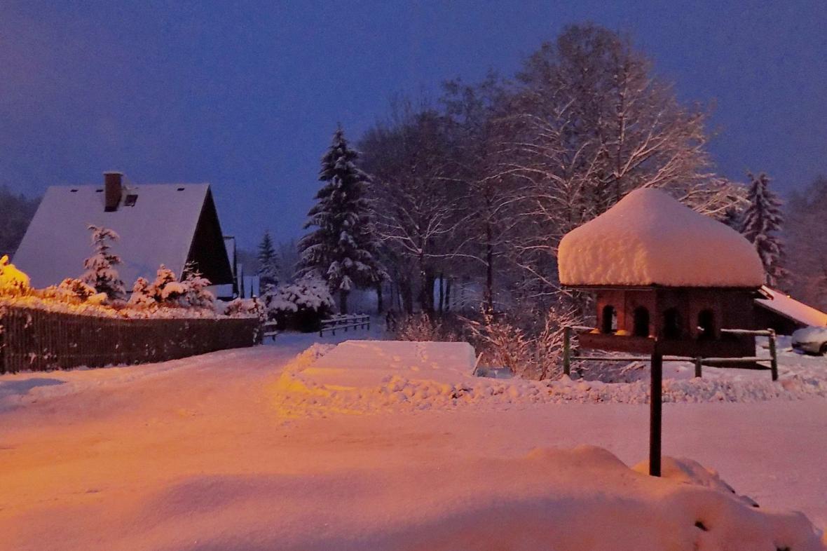 Filipovice: V šest hodin večer už v Jeseníkách nesněžilo.