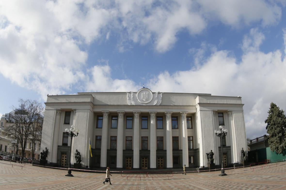 Sídlo ukrajinského parlamentu
