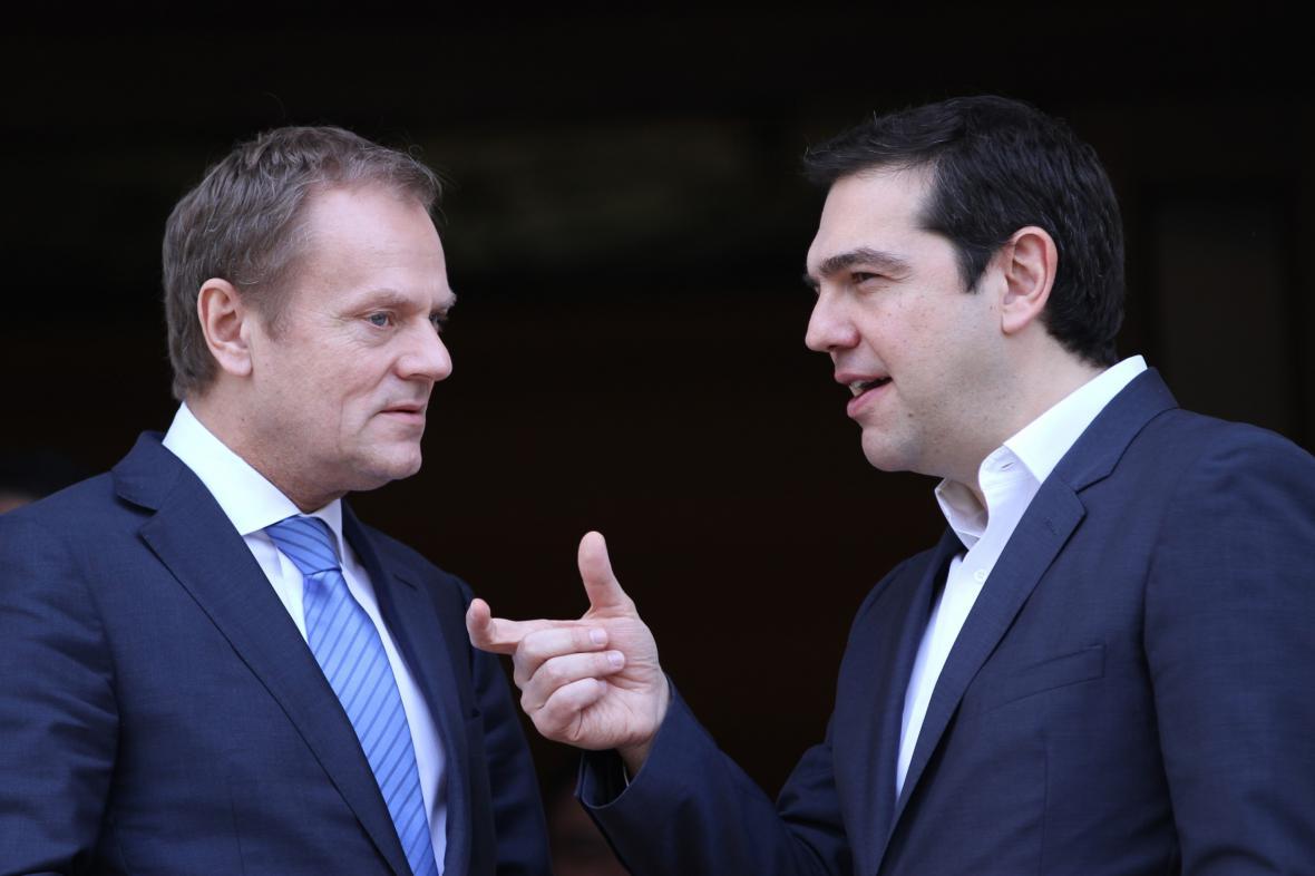 Donald Tusk a Alexis Tsipras