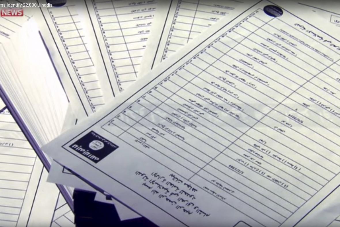 Dokumenty o bojovnících Islámského státu