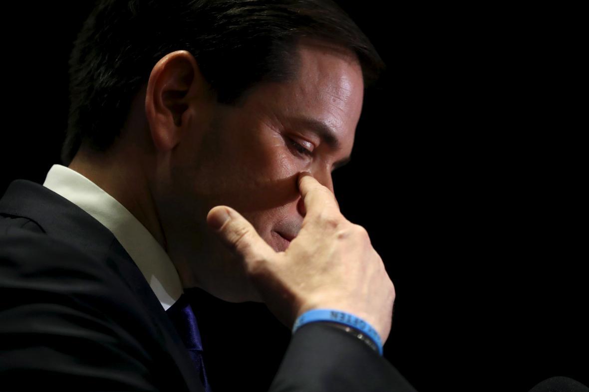 Zklamání Rubia z výsledků Floridy - i celé kampaně