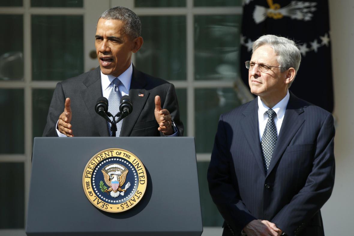 Barack Obama a Merrick Garland