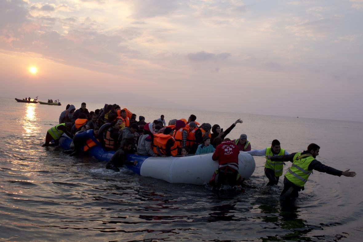 Příjezd běženců na řecké území