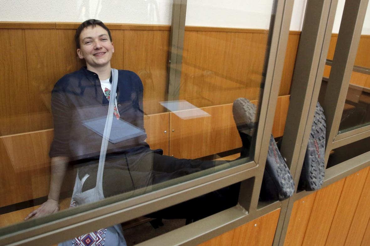 Savčenková během posledního dne soudního líčení