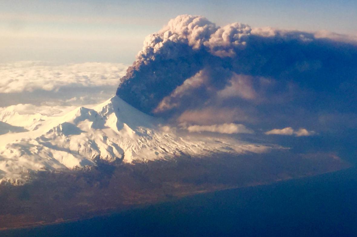 Erupce sopky Pavlof