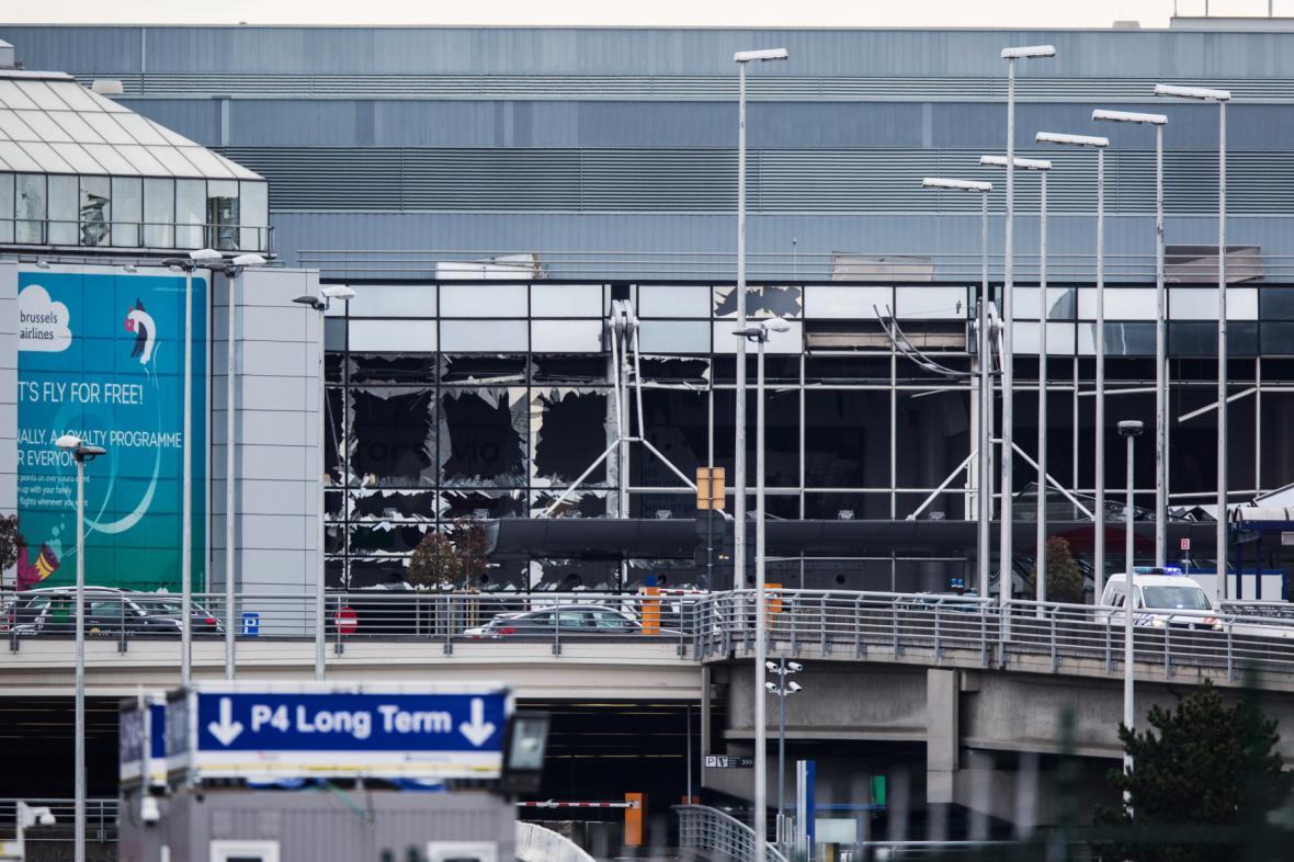 Poškozený objekt letiště Zaventem