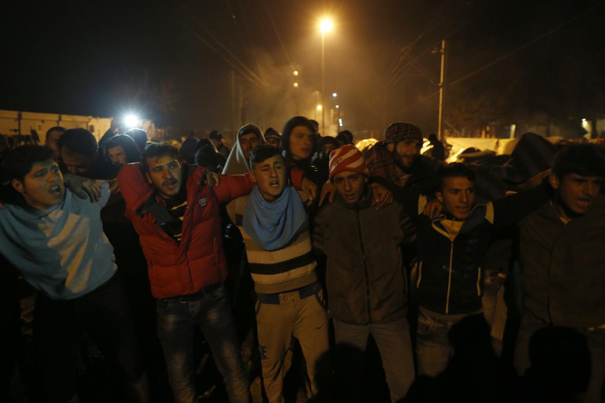 Blokáda trati v Idomeni