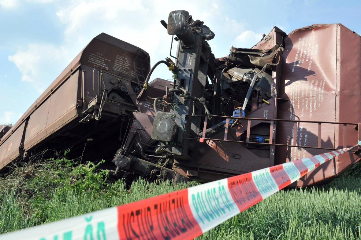 Nehoda se stala na rušné trati mezi Brnem a Olomoucí
