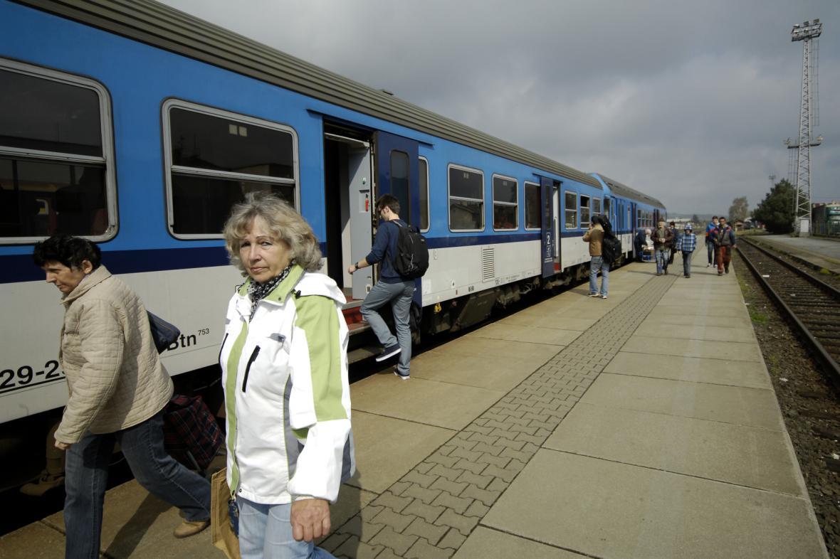 Vlak v Krnově