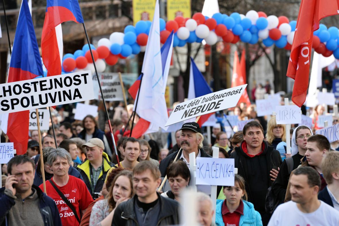 Pochod pro život prošel centrem Prahy