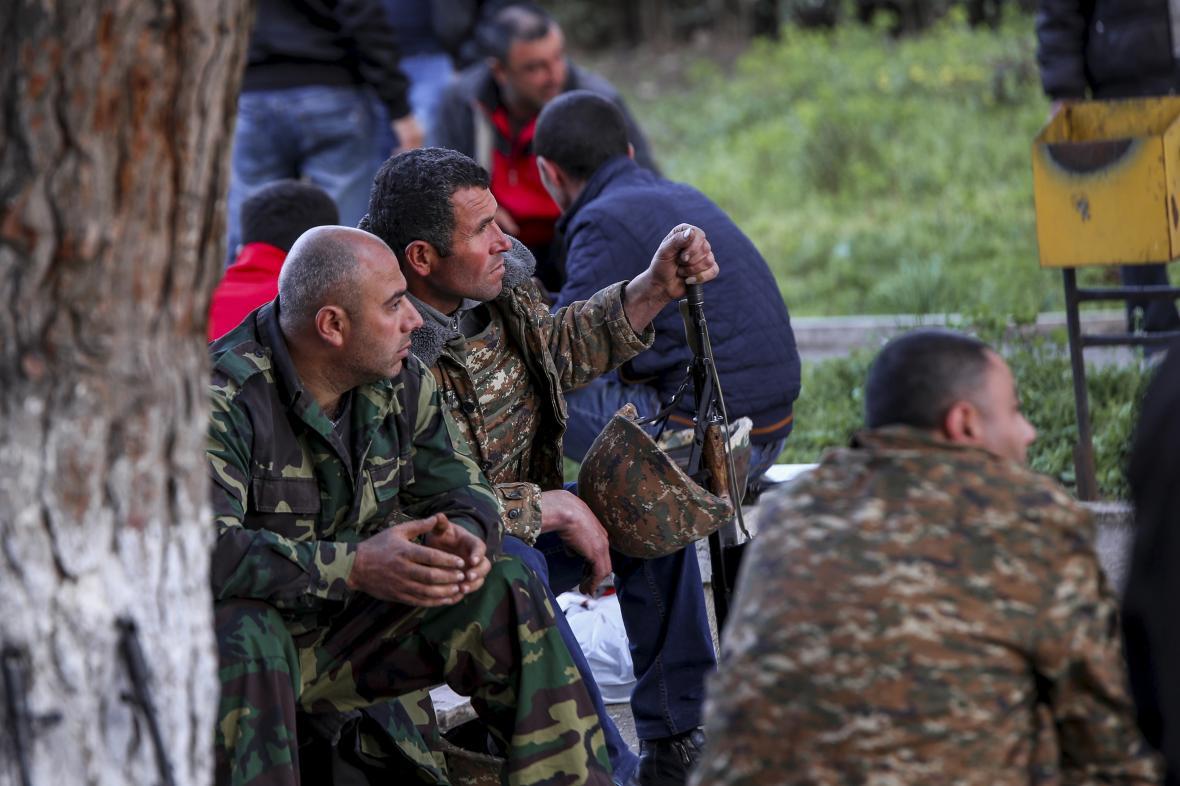 Arménští dobrovolníci v bojích o Náhorní Karabach