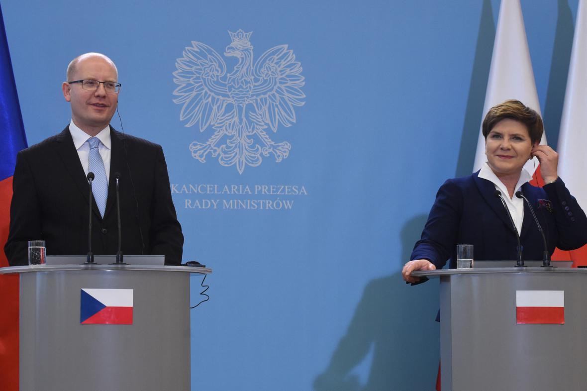 Bohuslav Sobotka a Beáta Szydlová