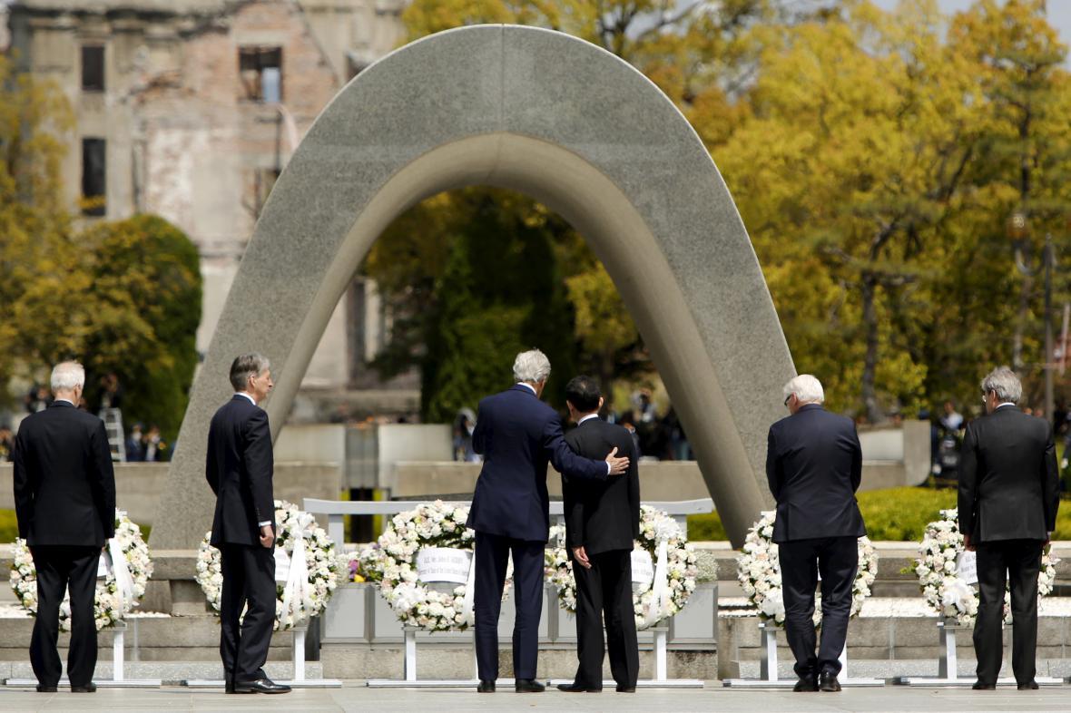 John Kerry s ministry zahraničí zemí G7 v Hirošimě