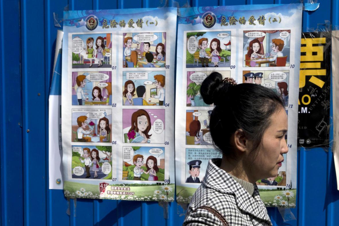 Komiks Nebezpečná láska v ulicích Pekingu