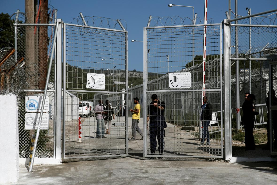 Řecký uprchlický tábor Moria