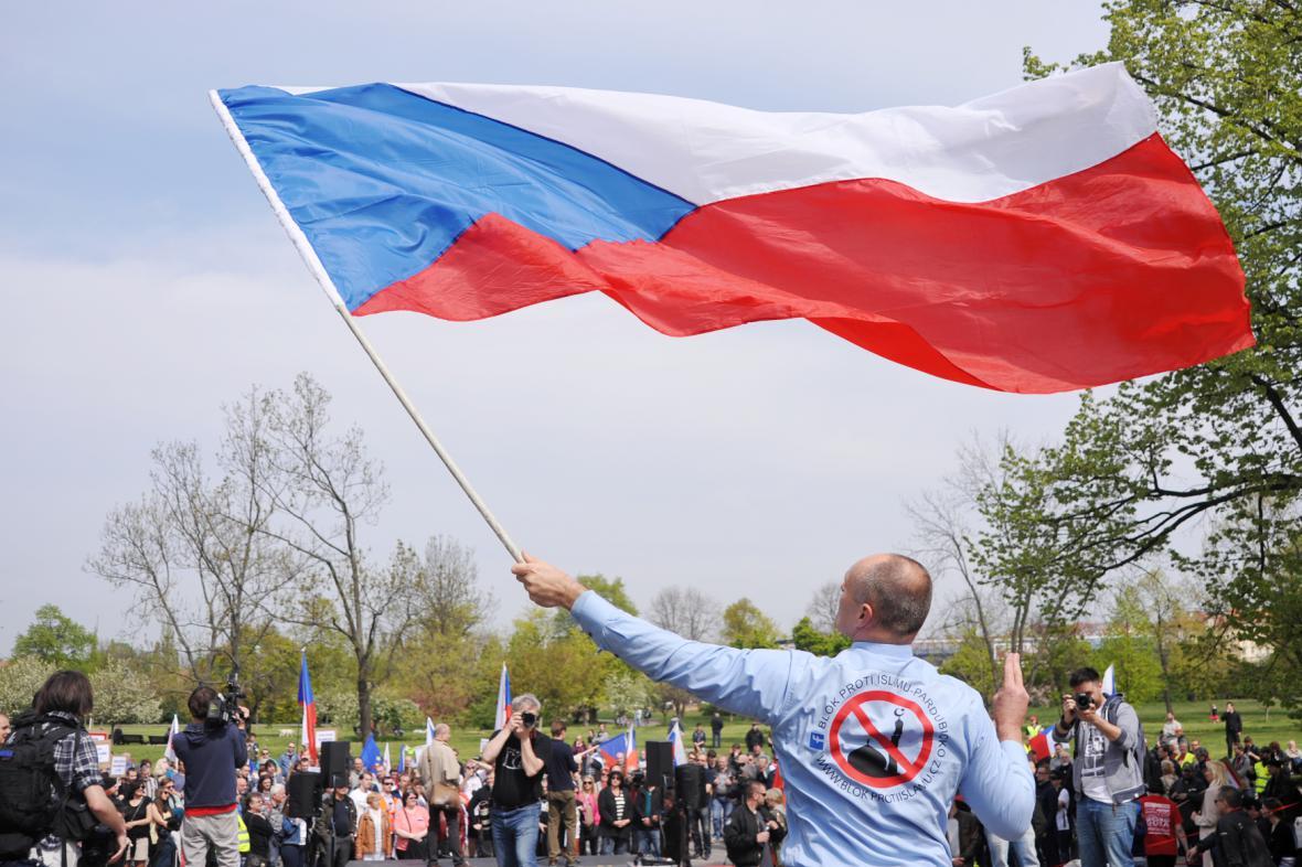 Prvomájová demonstrace v Praze