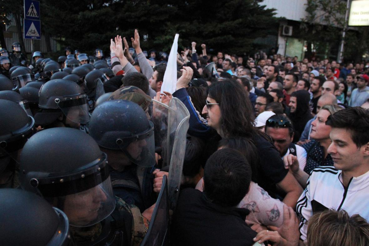 Protesty v makedonské metropoli