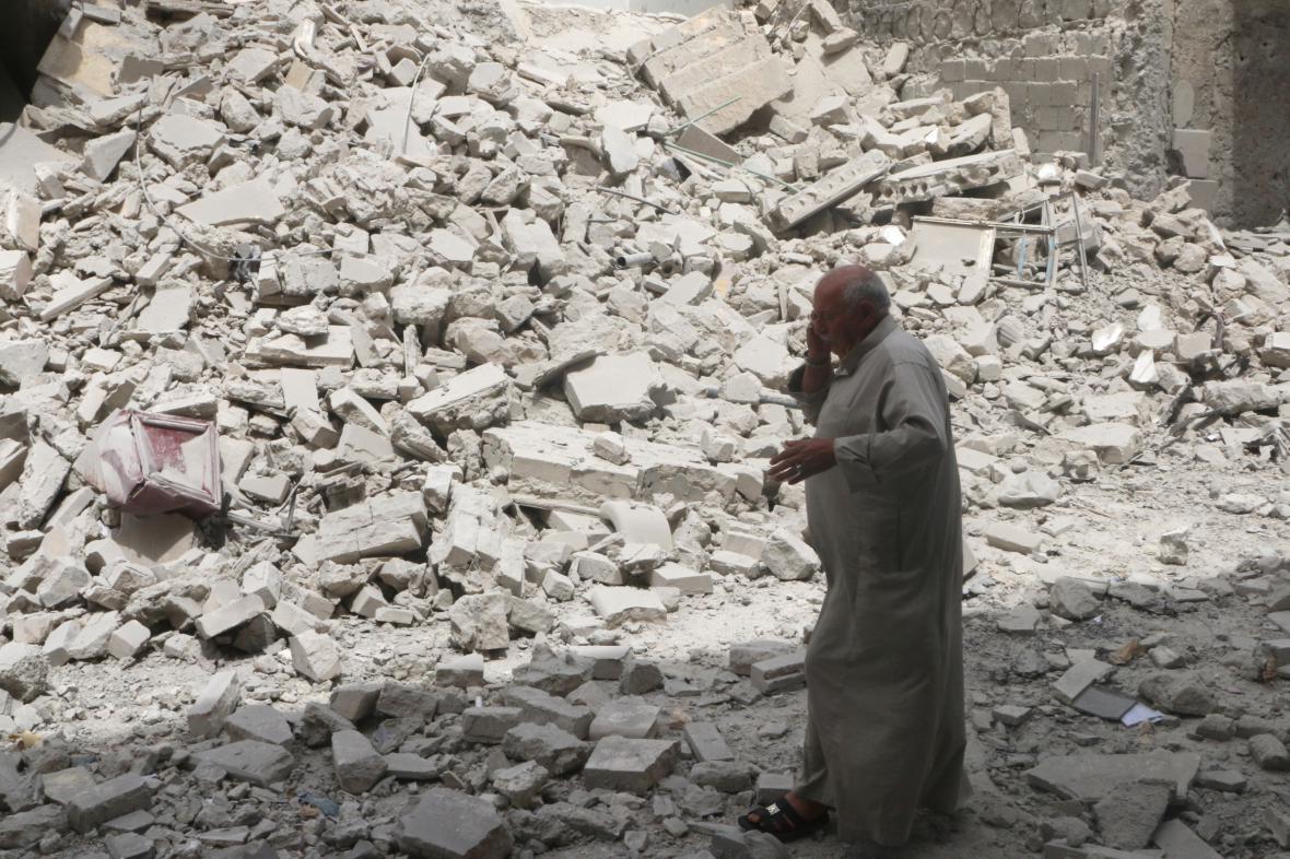 Aleppo v troskách