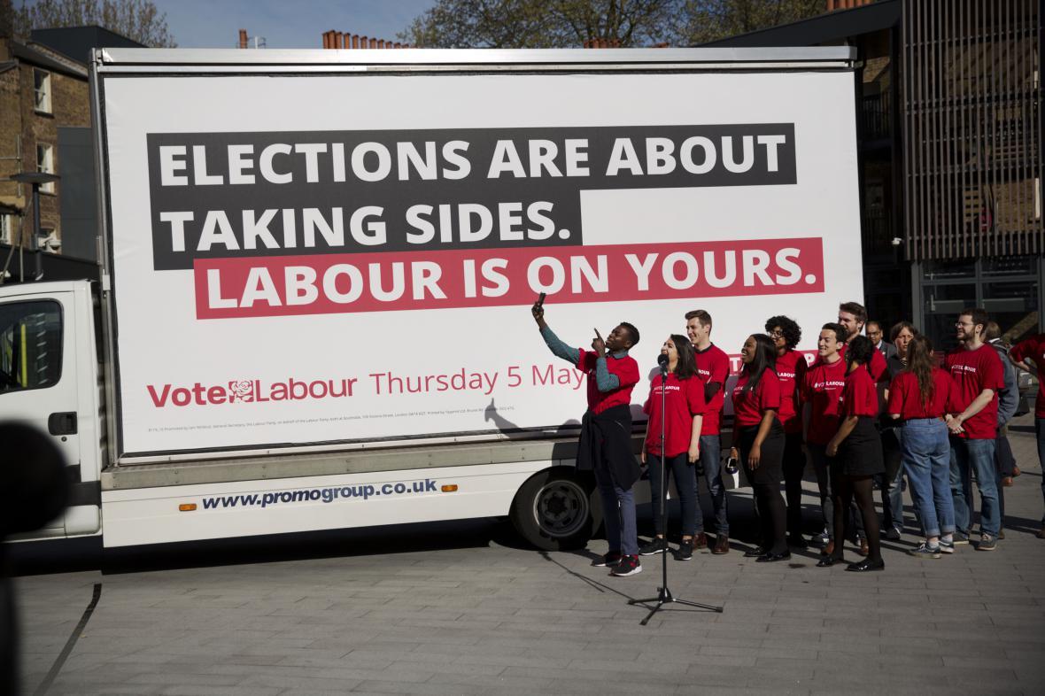 Britská předvolební kampaň