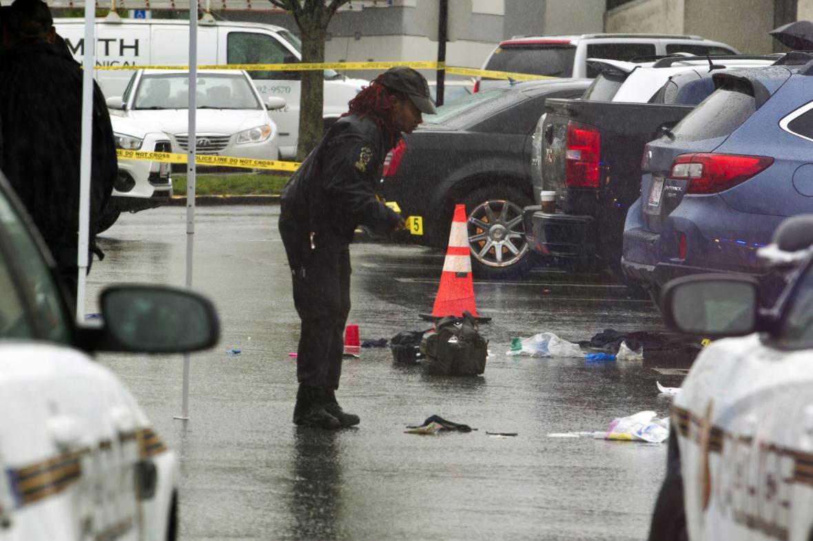 Místo jednoho z útoků ve městě Bethesda