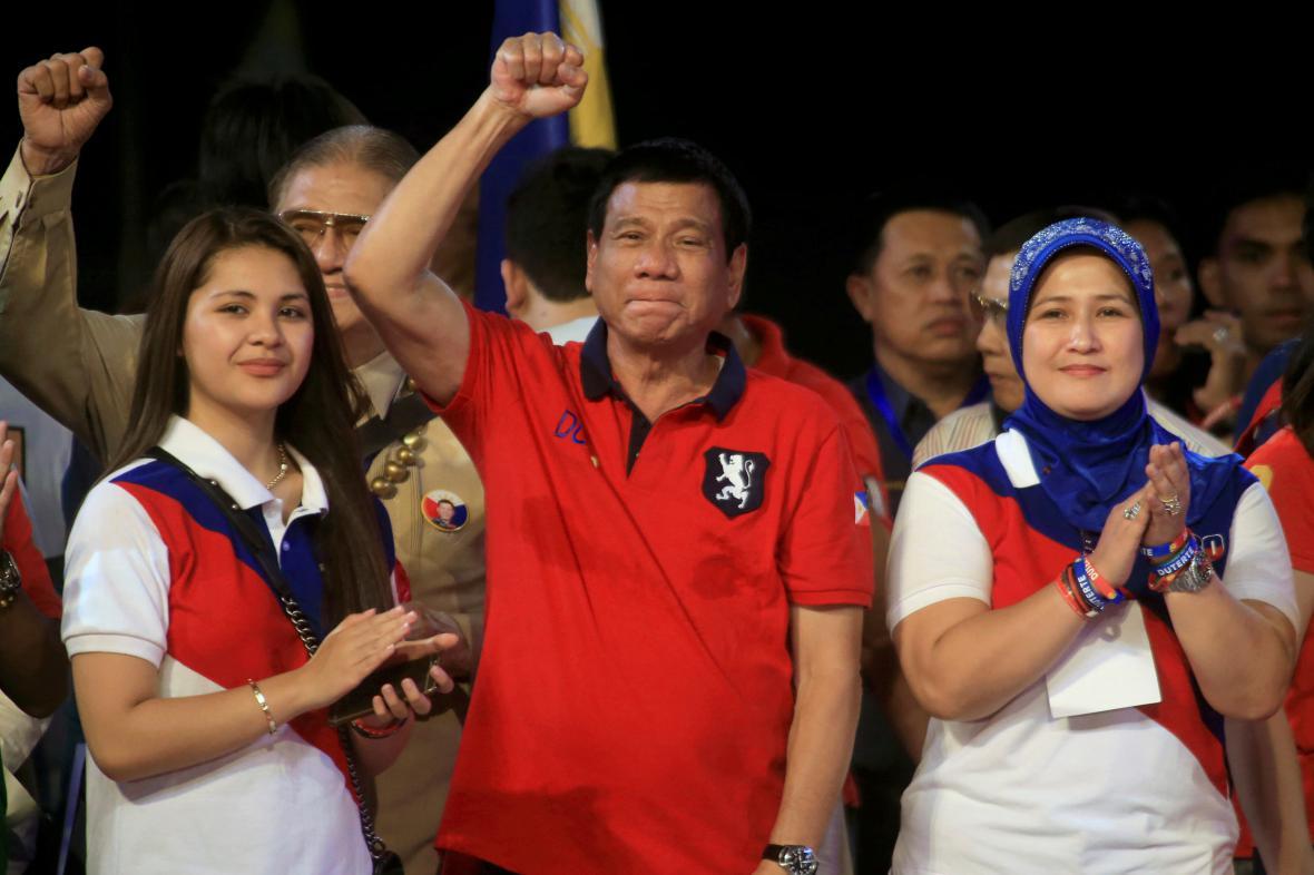 Nový filipínský prezident Rodrigo Duterte