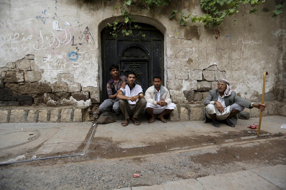 Obyvatelé jemenského Saná