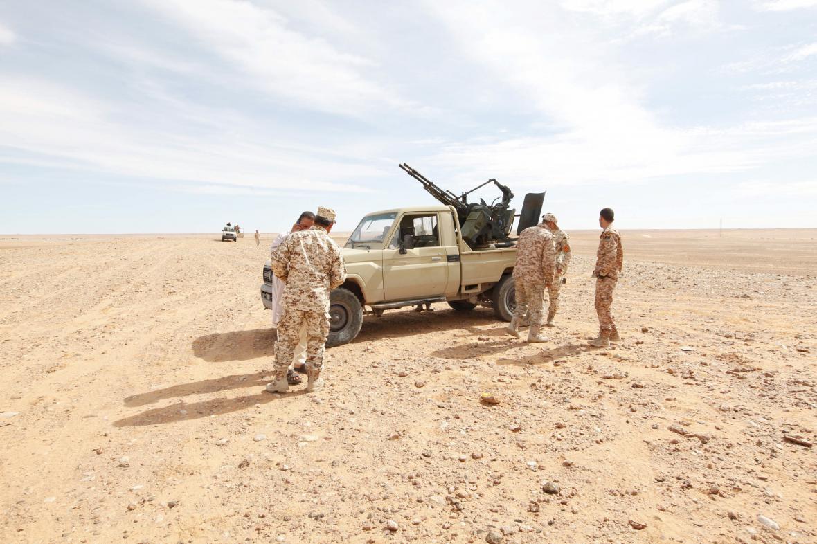Část libyjských vládních jednotek