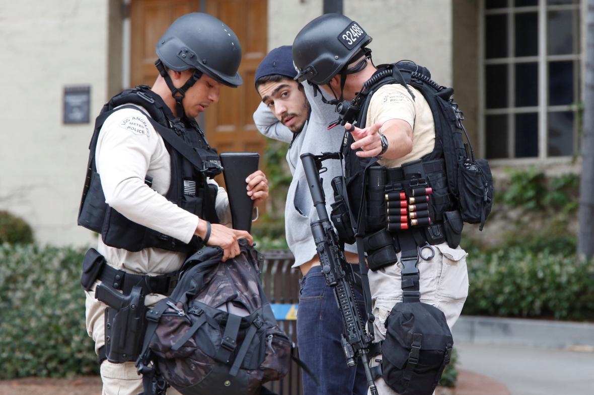 Policejní zásah na univerzitě v Los Angeles
