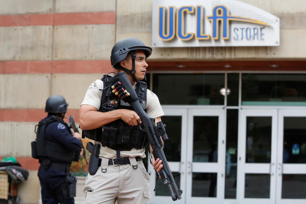 Policie zasahovala na Kalifornské univerzitě