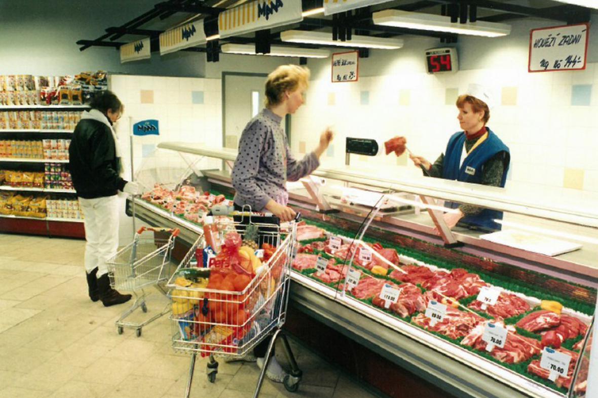 První supermarket v Česku