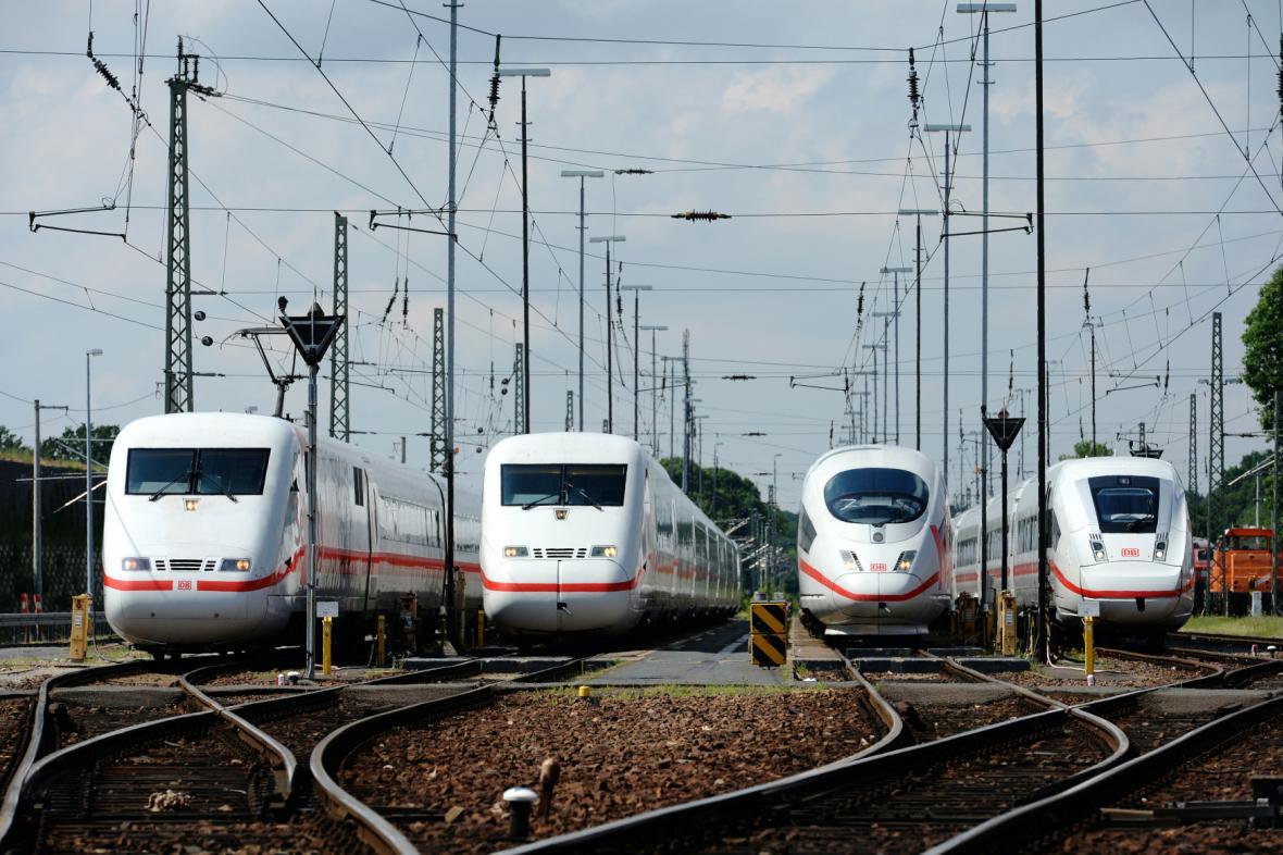 Německé vysokorychlostní vlaky ICE