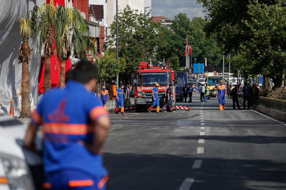 Výbuch v tureckém městě Midyat