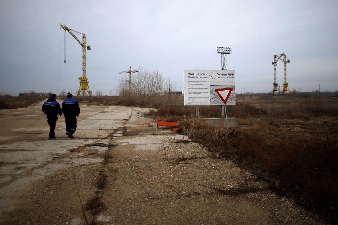 Výstavba u areálu jaderné elektrárny Belene