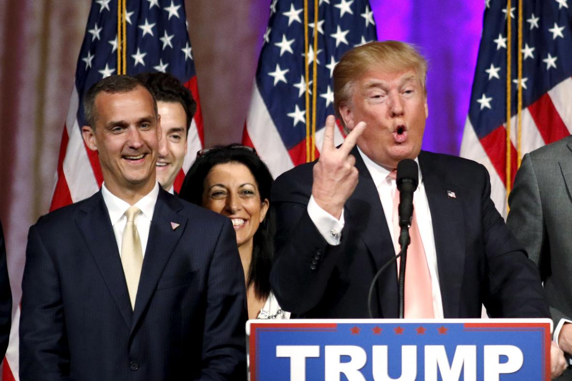 Corey Lewandowski a Donald Trump