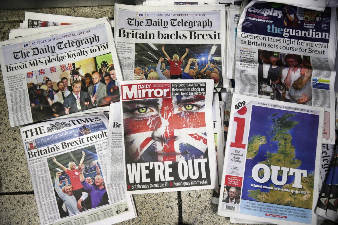 Reakce britských médií na brexit