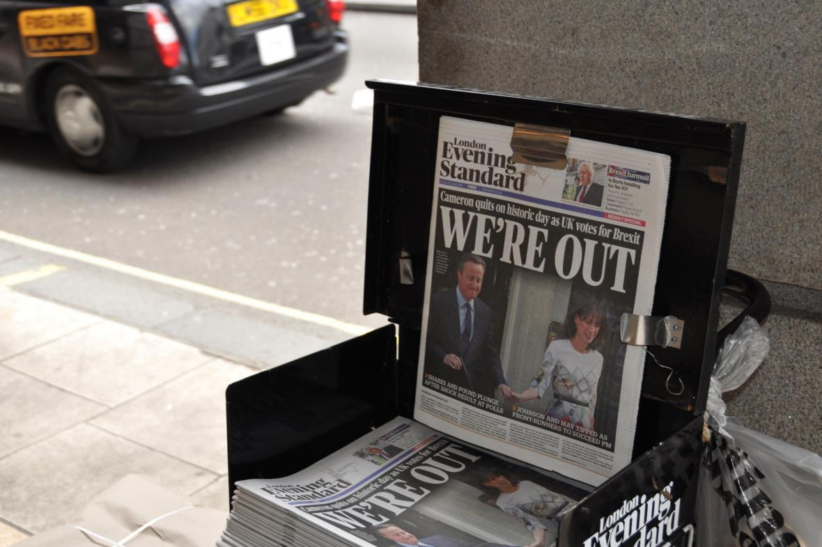 Velká Británie se rozhodla opustit EU