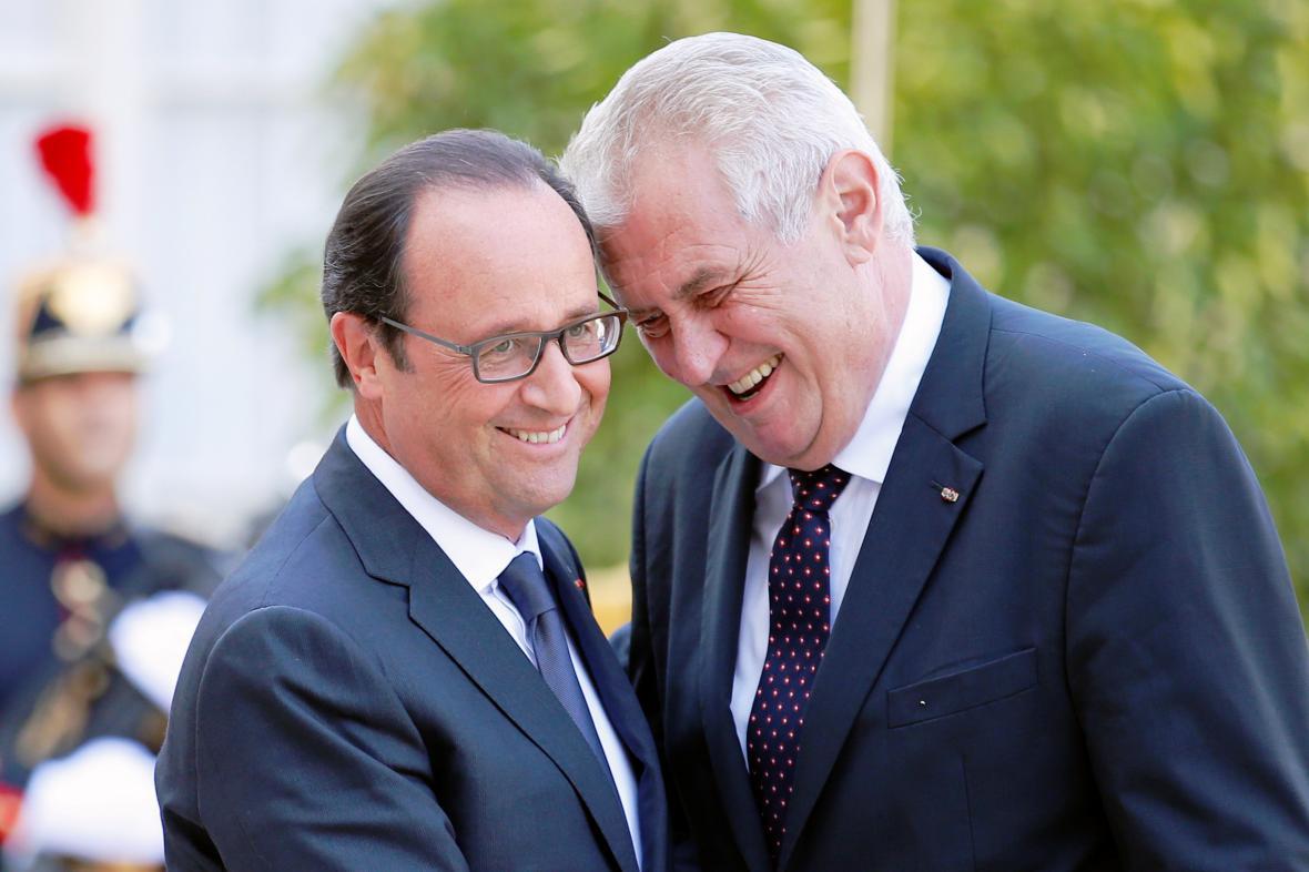 Miloš Zeman a Francois Hollande