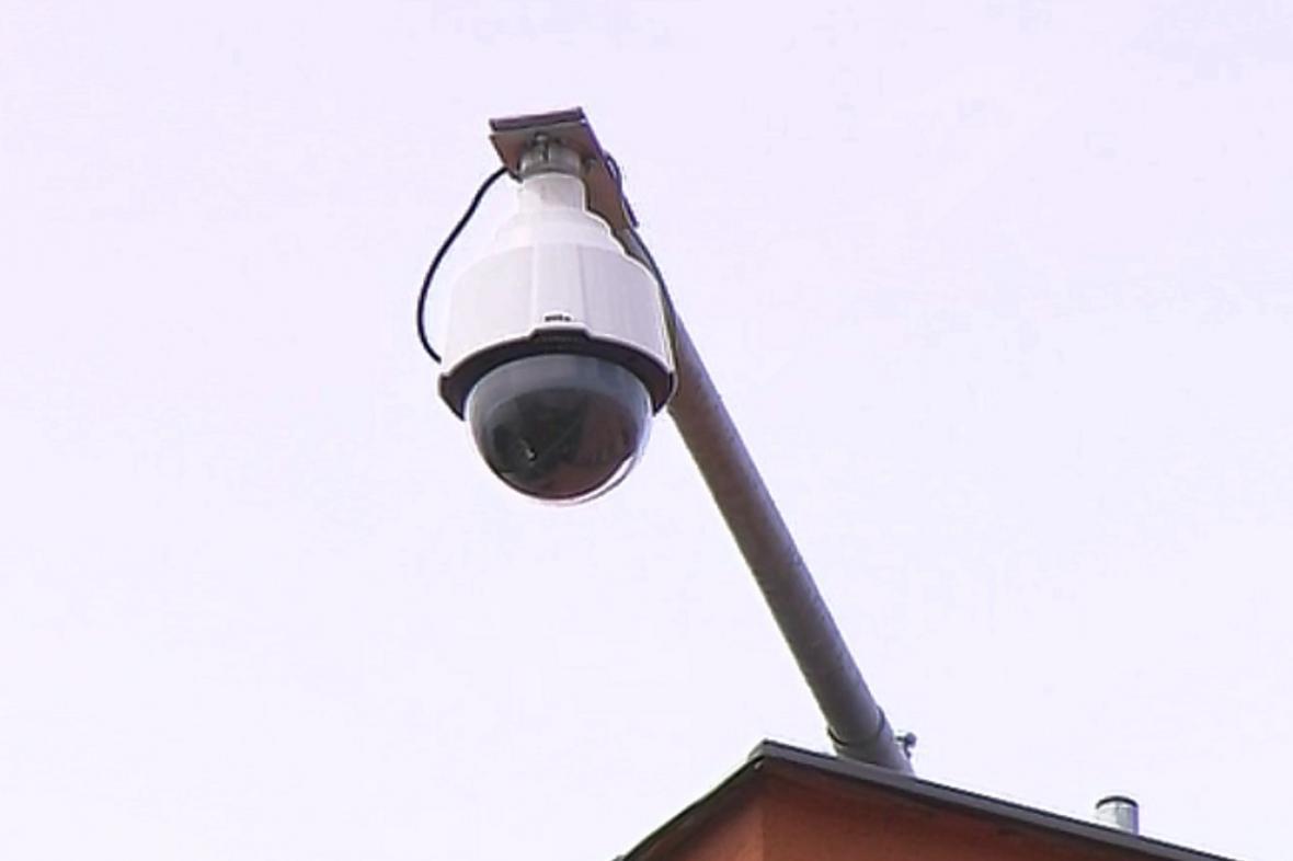 Kamera na bytovém domě