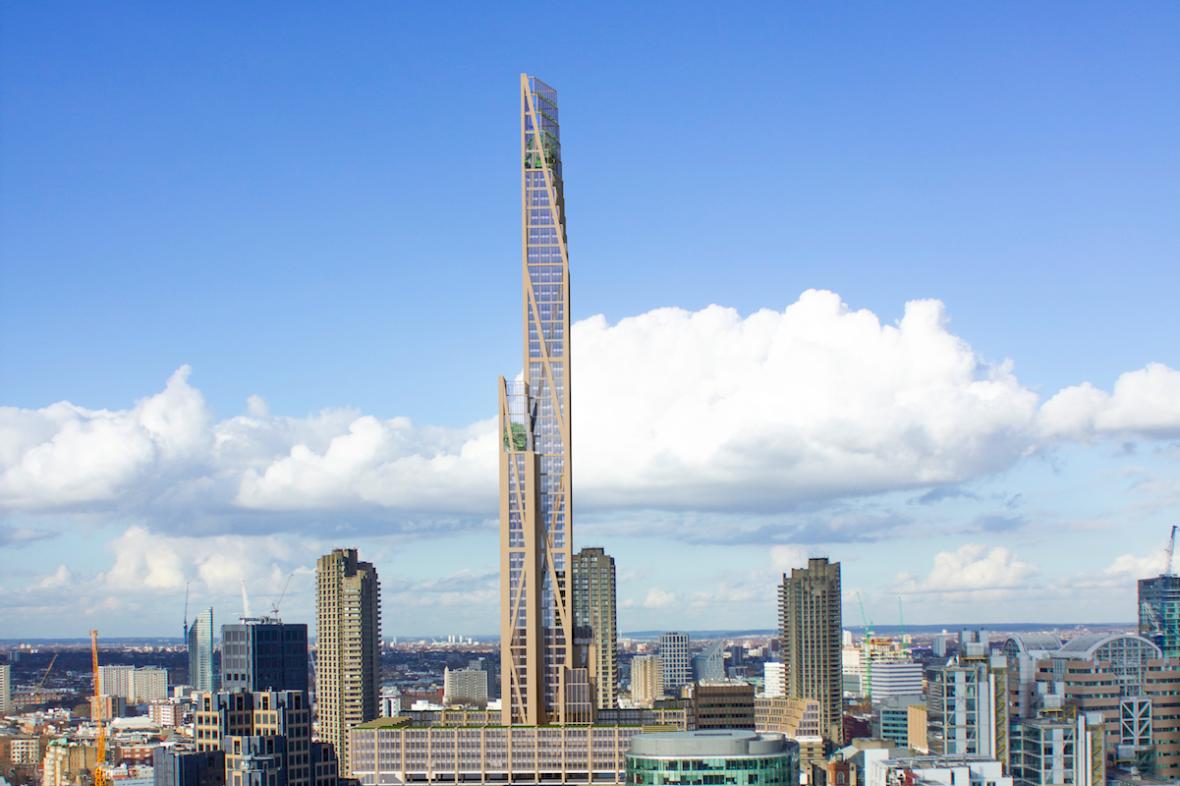 Dubový mrakodrap – Oakwood tower, který by mohl vyrůst v Londýně