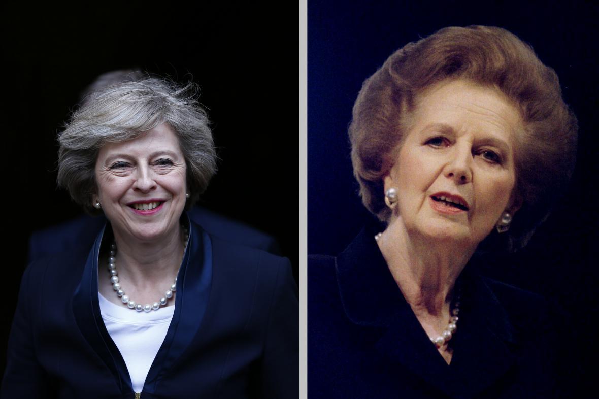 Theresa Mayová a Margaret Thatcherová
