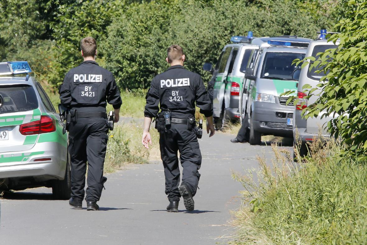 Vyšetřování útoku v bavorském vlaku