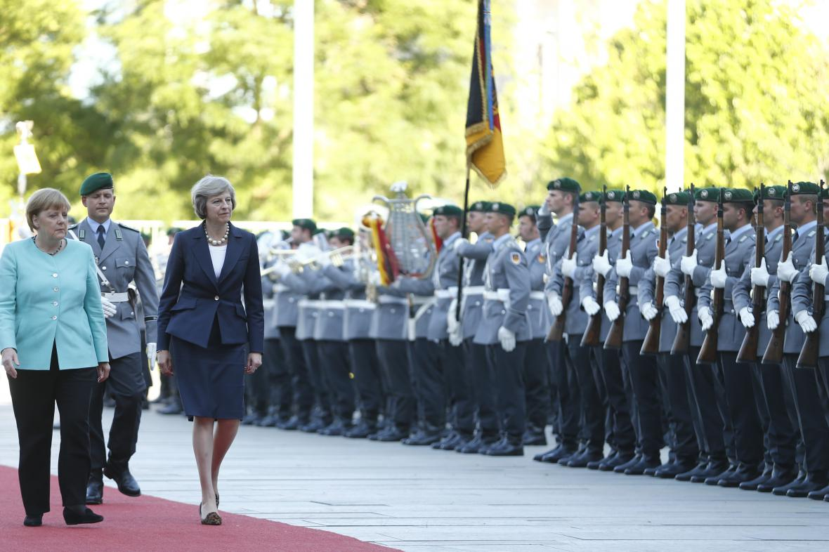 Theresa Mayová na návštěvě v Berlíně