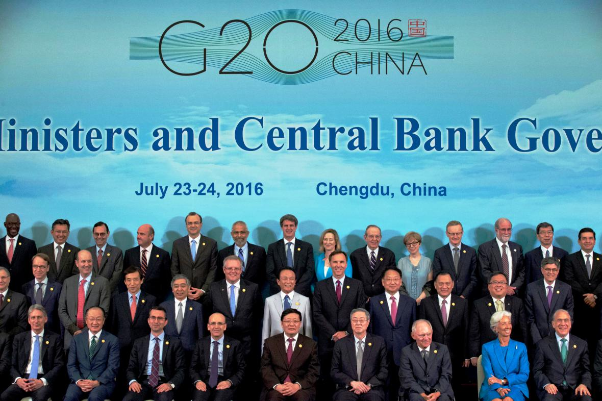 Zástupci zemí G20 na jednání v Číně