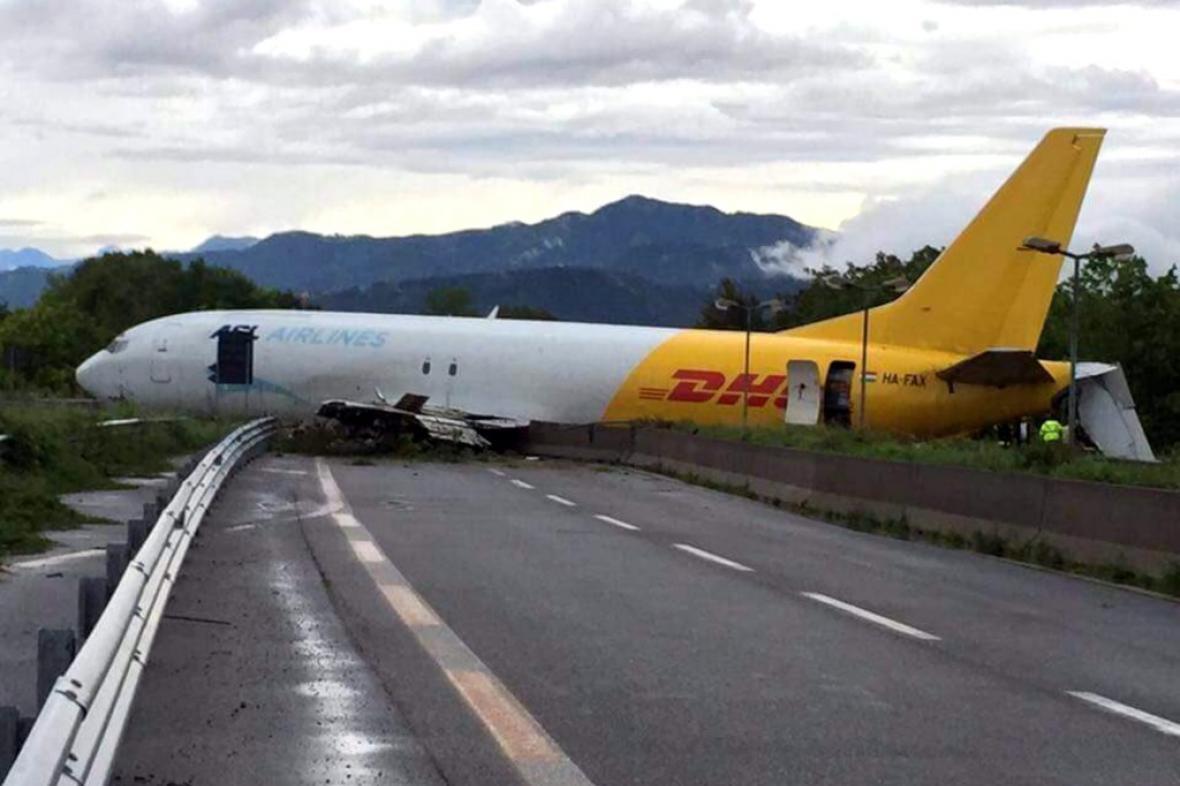 Nehoda letadla u Bergama