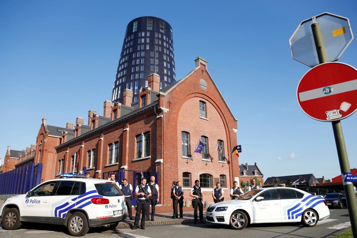 Místo útoku v Charleroi